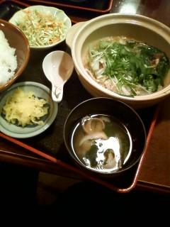 【ランチ】有楽町・酒処 ふなき・鶏団子鍋定食