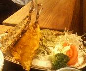 丸の内TOKIA 鹿児島かのやきよしの日替り かのやごはん 鯵の三色揚げ