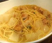 豚バラ肉と大根の煮込みソースバジリコ風味