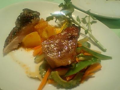 【ディナー】東銀座・BISTORO ぺるしぃ/旨味たっぷりなお肉(岩手の白金豚と地鶏!)