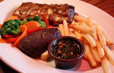 【ランチ】The Outback Special Ribs Combo(アウトバック・スペシャルリブコンボ)/海浜幕張・Outback Steakhouse(アウトバックステーキハウス)幕張店