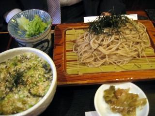 【ランチ】山形だしごはん定食/銀座1丁目・蕎麦 次男坊