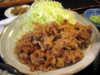 【ランチ】お昼のサービス定食/銀座1丁目・蕎麦 次男坊