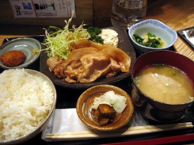 【ランチ】日替わり定食(豚生姜焼)/丸の内TOKIA・鹿児島 かのや きよし