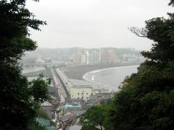 片瀬江ノ島海岸の眺め