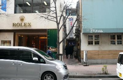 【ランチ】銀座1丁目・大衆割烹 三州屋 銀座店 店舗入口