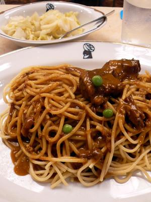 【ランチ】丸の内TOKIA・インデアンカレー(その6)/インデアンスパゲッティ+ピクルス大盛り