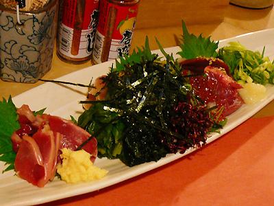 炭火焼鳥・鶏割烹 新橋 山猿/山コース 鶏のお刺身の盛り合わせ(砂肝・ささみ・白レバー)