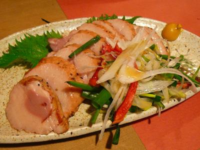 炭火焼鳥・鶏割烹 新橋 山猿/山コース 半生鴨ロース煮