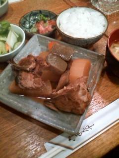 【ランチ】銀座・酒房 明日葉/ぶり大根定食