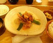 【夕飯】炭火焼き鶏と野菜の豆乳クリーム煮定食/丸の内・大戸屋 ごはん処 丸の内新東京ビル店