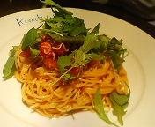 八重洲_イタリアンカバチ_釜揚げシラス&フレッシュトマトの冷製カッペリーニ_バルサミコ風味