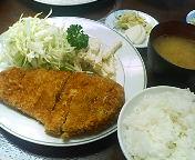 京橋・名代とんかつ金好 昼食かつライス