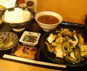 銀座・ちゃんぷるぅ家のゴーヤーチャンプルー定食