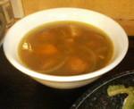 銀座・ちゃんぷるぅ家のゴーヤーチャンプルー定食についてくる日替わりスープ