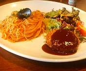 ビバリー有楽町店のコンビネーションプレート  ホクホクポテトコロッケ&お好きなスパゲティ