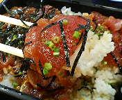 銀座1丁目・日本料理  岩戸のまぐろ重のヅケマグロ