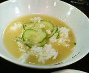 銀座1丁目・日本料理  岩戸の冷や汁定食