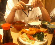 「今日のいっぴん2005」abuyasuサンのランチ撮影風景