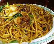 西銀座 カレー&スパゲティ ジャポネのキムチスパ(ジャンボ)