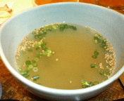 丸ノ内・Asli(アスリ)丸の内店のランチ 伊達鶏の挽肉カレーについてくる「鶏だしスープ」
