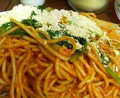 西銀座・スパゲティ&カレー ジャポネのナポリタン(大盛り)に粉チーズ
