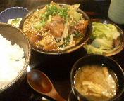 ぼんぼり改め東京バルバリの和牛スジ煮込み定食