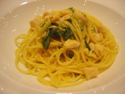 カノビアーノ東京(CANOVIANO TOKYO)のCランチ「白身魚と九条ねぎのスパゲッティーニ サフラン風味」
