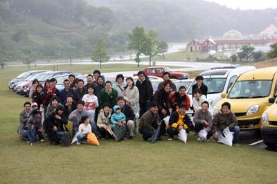 2008 第7回 東京ドイツ村オフ レポート 参加者みんなで記念撮影