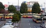 愛甲石田駅前の神奈中バス