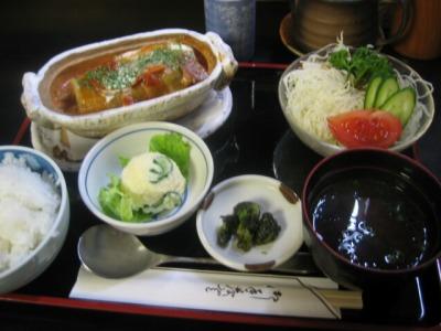 【ランチ】京橋・和洋料理きむら/ロールキャベツ定食