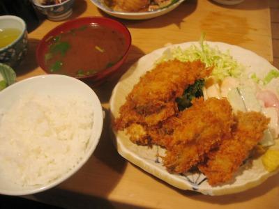 【ランチ】銀座1丁目・大衆割烹 三州屋 銀座店/カキフライ定食