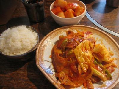【ランチ】韓国家庭料理の店 東中野 ソナム本店/豚肉炒め