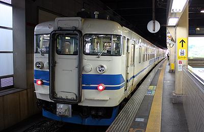 北陸本線 9339M 普通 富山行き 475系ほか3両編成
