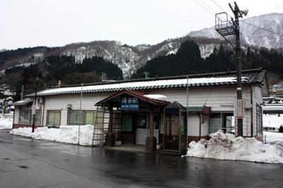 JR高山本線 猪谷駅 駅舎