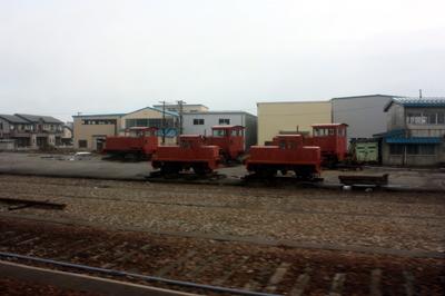 能町貨物駅跡地で見られた構内入換え機の廃車群