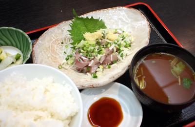 【ランチ】田町「大衆割烹 三州屋 芝浦店/アジたたき定食