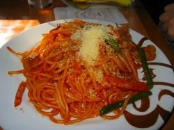 浅草ヨシカミのスパゲティナポリタン