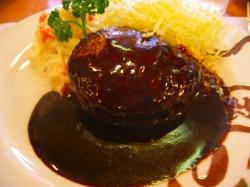 浅草ヨシカミのハンバーグステーキ