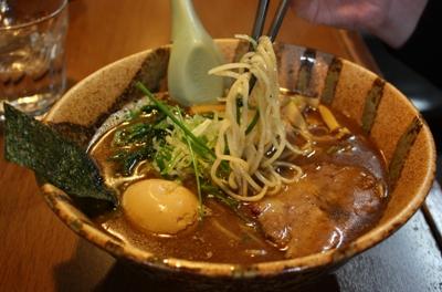 【ランチ】成田・麺屋 青山/味玉らーめん(鶏ガラ魚介)