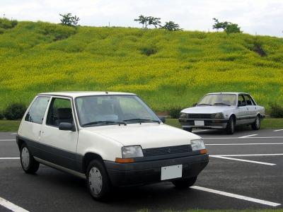 東京ドイツ村のルノー5とプジョー505