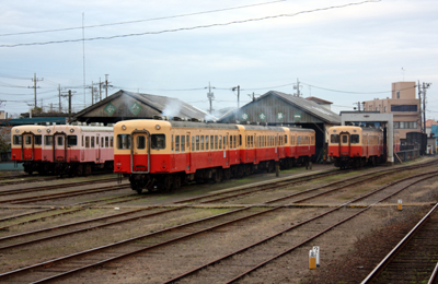 小湊鐵道の車両はキハ200型で全て統一されている