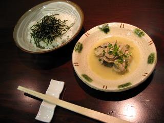 銀座5丁目・AROMA DININGのランチ 生牡蠣のバター焼き