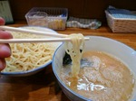 【ランチ】津田沼・必勝軒/特製もりそば(水曜昼・動物系濃厚スープ)