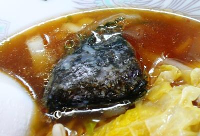 浜金谷(千葉)・味はな/海藻とろろ野菜ラー飯に載っていた「あらめ」