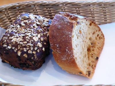 【ランチ】千葉市稲毛海浜公園・レストラン ラ・ミューゼ/ランチセット 自家製の手作りパン