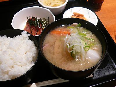 【ランチ】銀座一丁目・日本料理 岩戸/豚汁定食