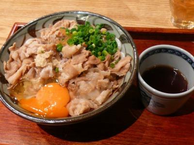 野らぼー 釜肉ぶっかけうどん(生卵付き)