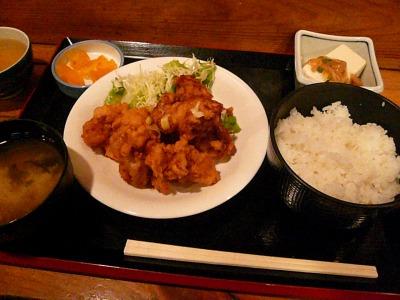 八重洲「ちょっぷく」鶏の唐揚げ ねぎソース