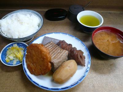 【ランチ】京橋・ザ・おでん あきやま/大盛おでん茶めし